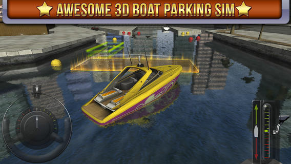 ICS 3D Boat Parking Simulator iPhone groot