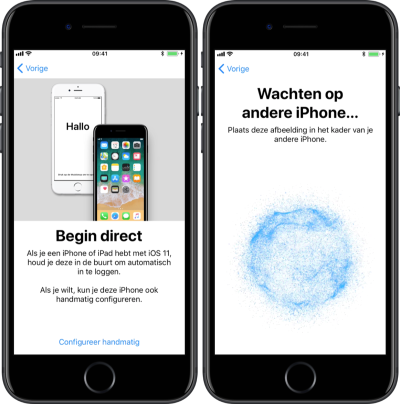 Begin direct bij instellen van je iPhone.