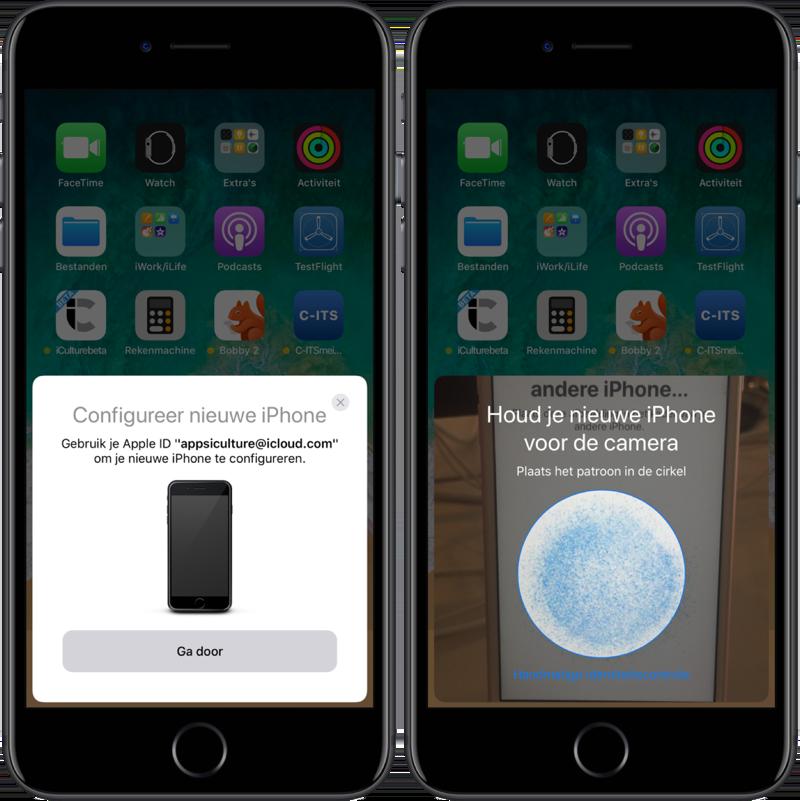 Instellen nieuwe iphone