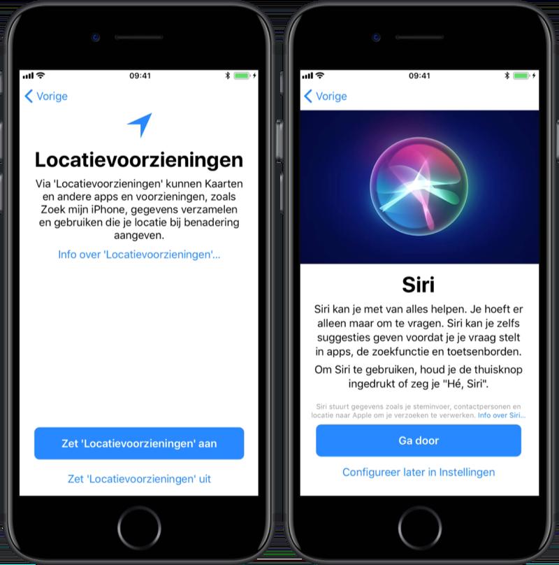 Locatie en Siri instellen bij je iPhone.