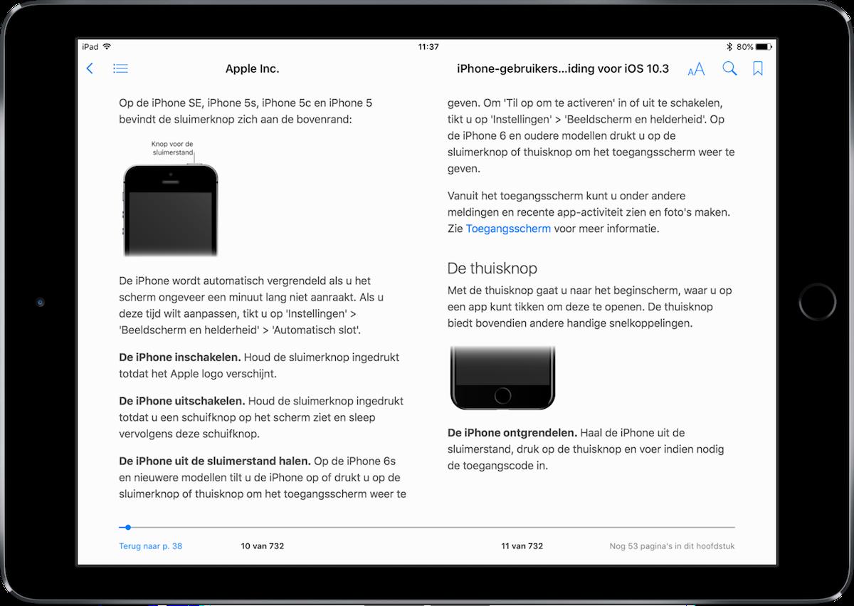 iPhone gebruikershandleiding als boek