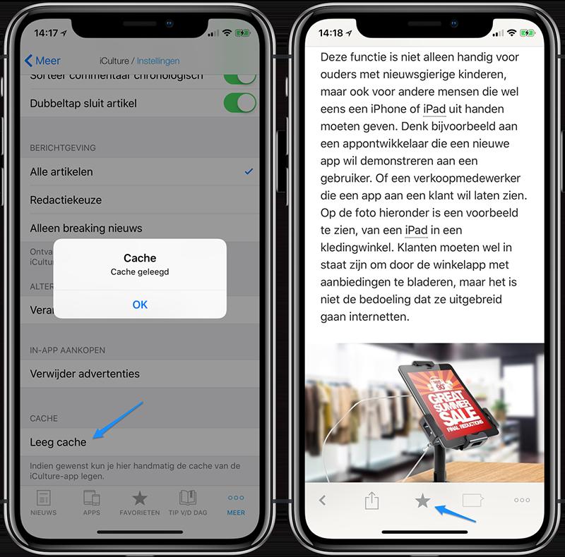 iCulture-app cache legen