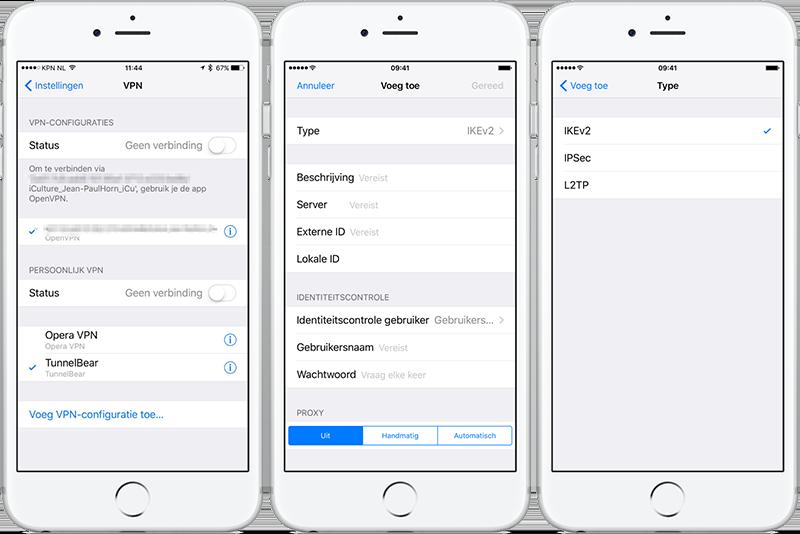 VPN instellen op iPhone en iPad