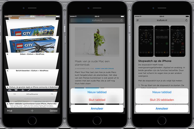 Safari-tabbladen afsluiten op iPhone