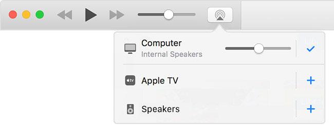 macOS iTunes met AirPlay