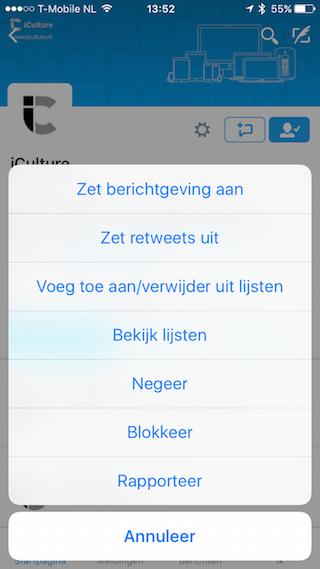 Twitter berichtgeving iCulture