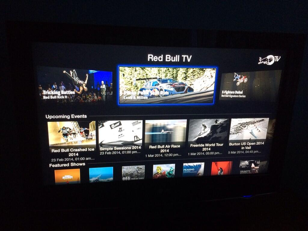 Red Bull TV op Apple TV
