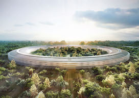 Apple Campus spotlight