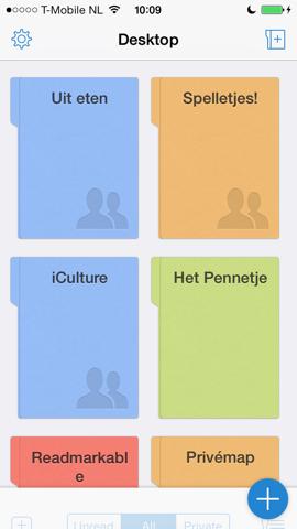 Quip tekstverwerker iPhone mappen