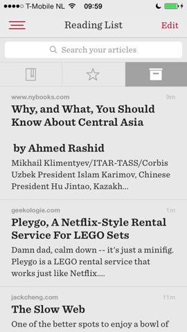 Readability iPhone artikelen opgeslagen