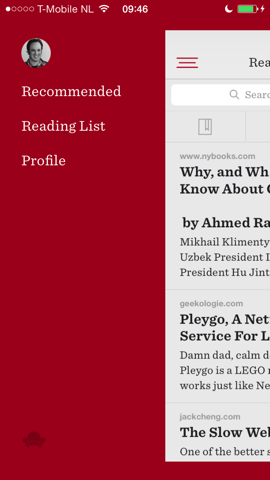 Readability nieuwe hoofdmenu