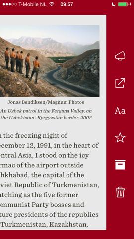 Readability artikelopties iPhone