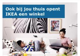 IKEA iPhone-app met webshop link