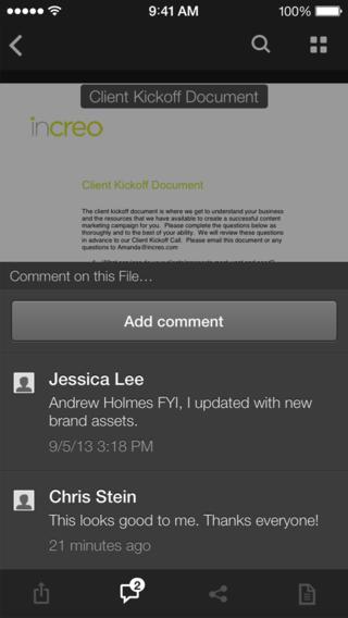 Box nieuwe versie 3.0 iPhone iPad