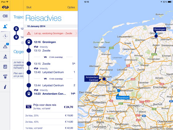 NS Reisplanner Xtra iPad app