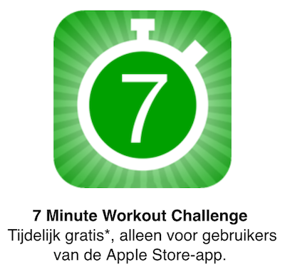 7 Minute Workout App Store
