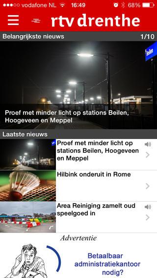 RTV Drenthe iPhone-app