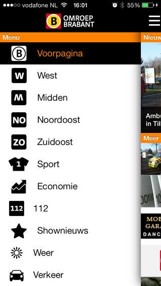 Omroep Brabant iPhone regio-app