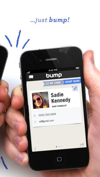 bump iphone hand