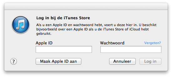 itunes store log in