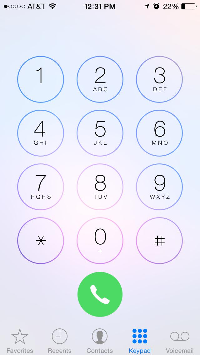 Nieuwe toetsen Telefoon-app