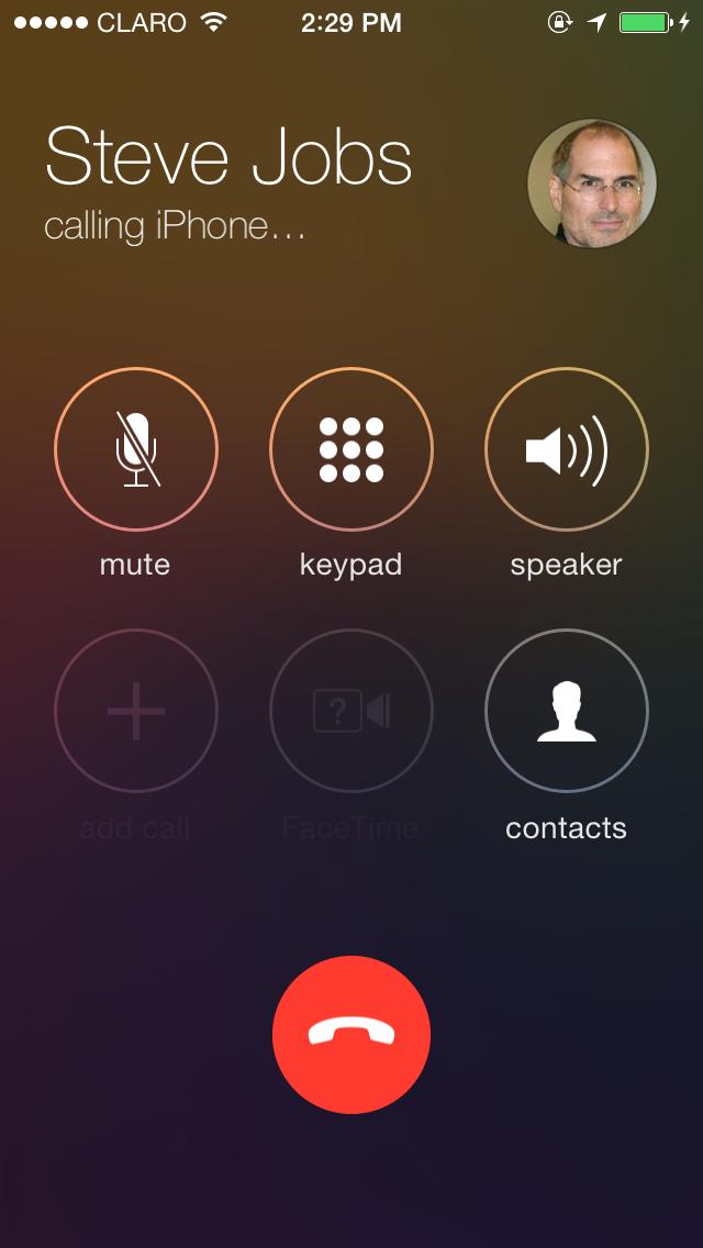 Bel-interface iOS 7 beta 3