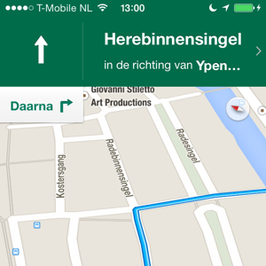 Beste navigatie-apps iPhone Google Maps