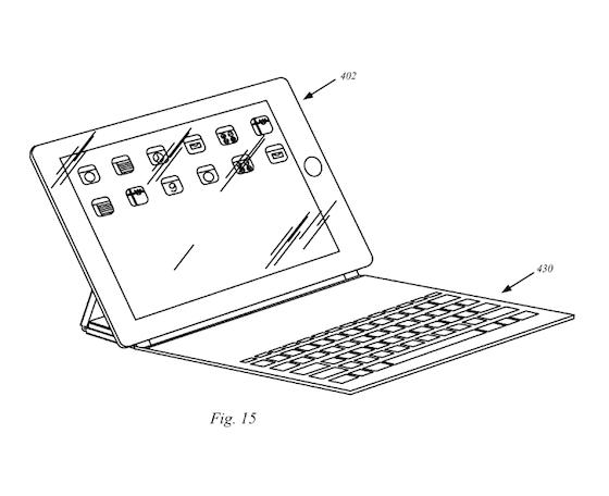 iPad toetsenbord smart cover patent