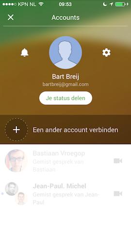Google Hangouts profiel account