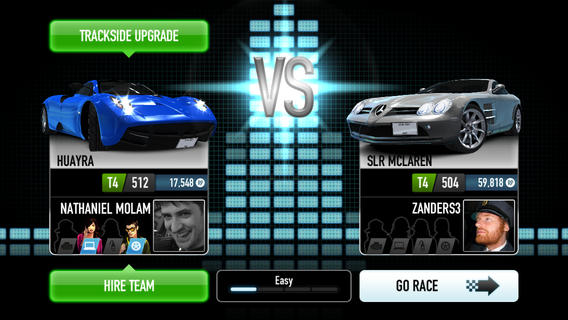 CSR Racing team inhuren iPhone