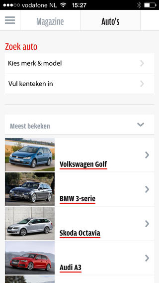 AutoWeek.nl database automodellen