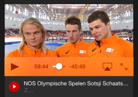 NOS Sotsji Olympische Spelen downloads
