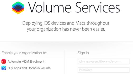 Volume Services iOS 7.1