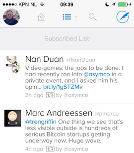 Twitterrific 5 Twitter-app indelen