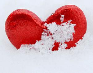 hart sneeuw