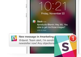 Slack App iPhone header