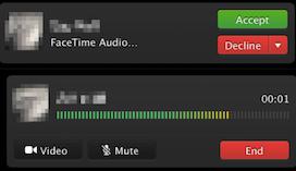 FaceTime Audio op de Mac