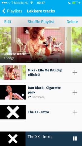 Musx playlist nummers