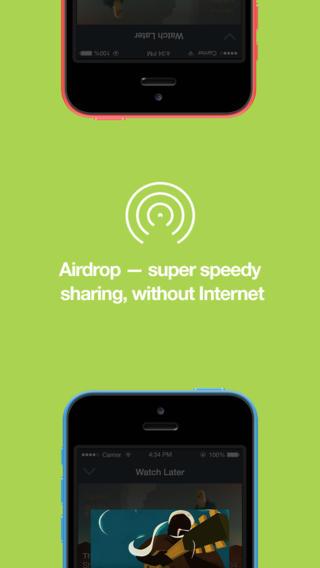 Deel Vimeo-video's via AirDrop