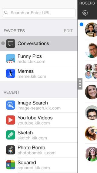 KIK Messenger websites zoeken