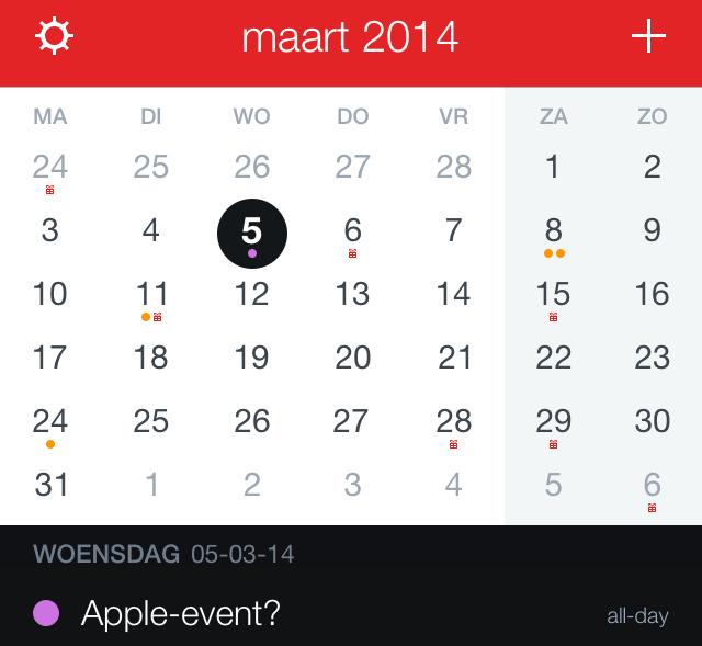 Apple-event maart 2014