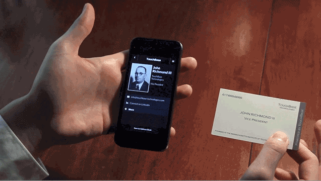 TouchBase visitekaartjes
