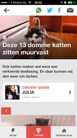 Upcoming Nederlandse BuzzFeed iPhone
