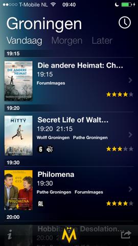 MrMovie Bioscoop Agenda iPhone kaartjes