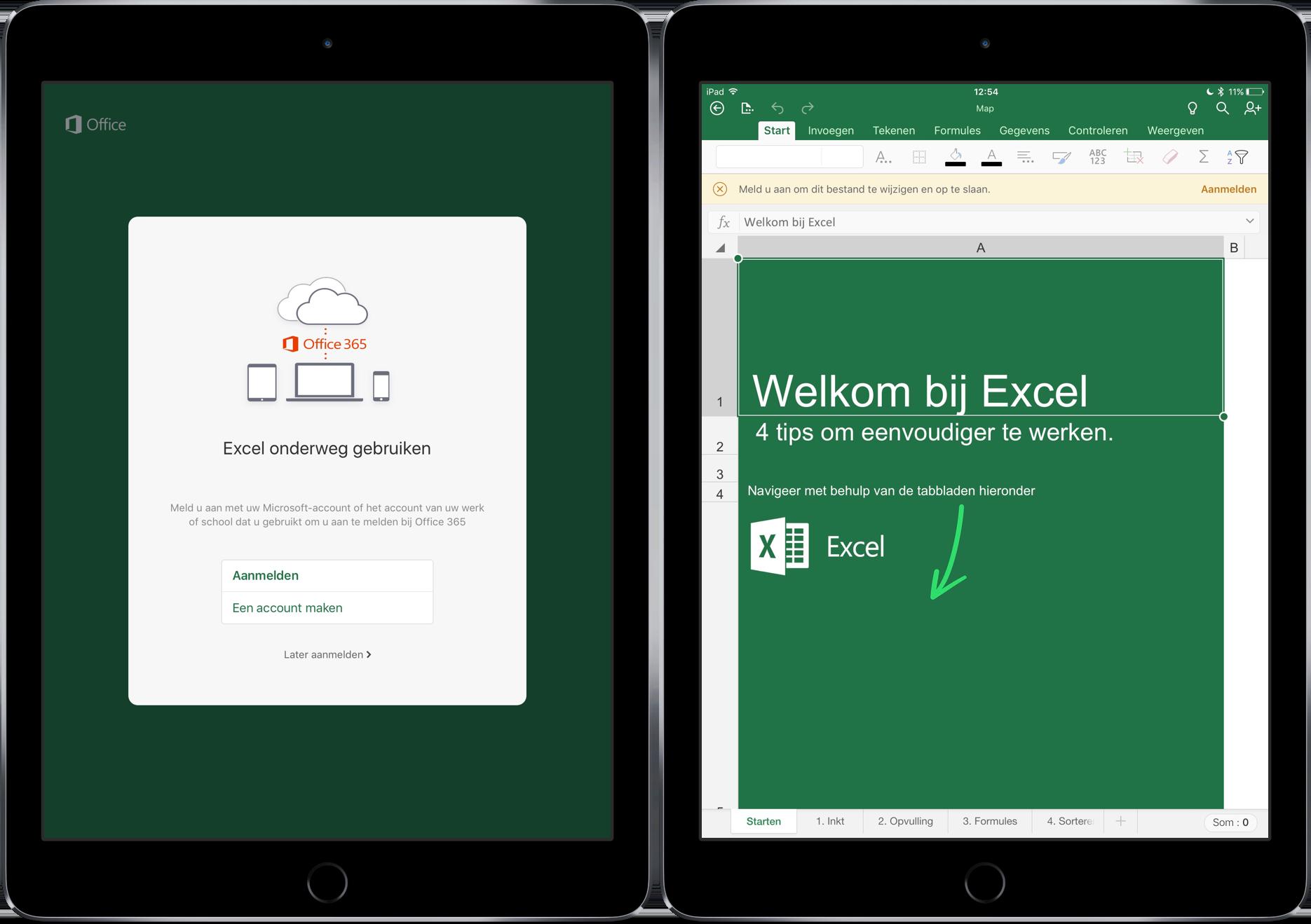 Microsoft Excel iPad