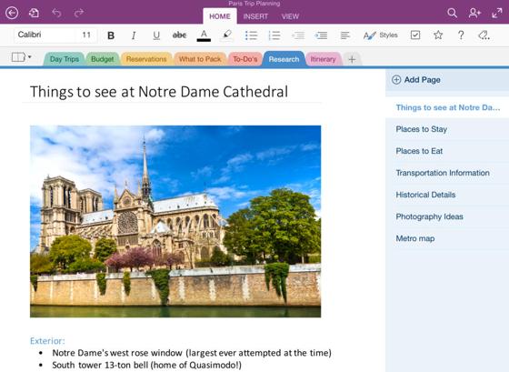 Microsoft OneNote iPad tekstverwerken