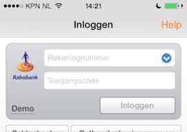 Rabobank Mobiel Bankieren iPhone iPad iOS 7