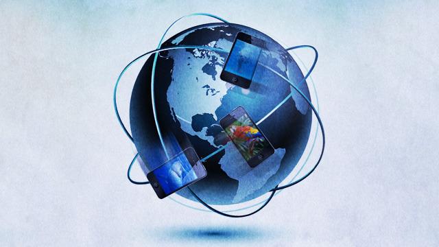 iPhone wereldbol