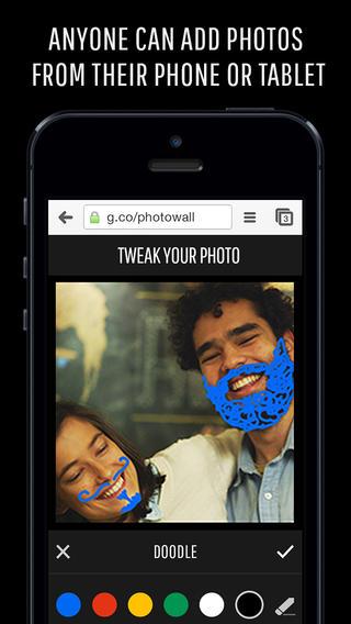 Photowall for Chromecast tekenen op foto