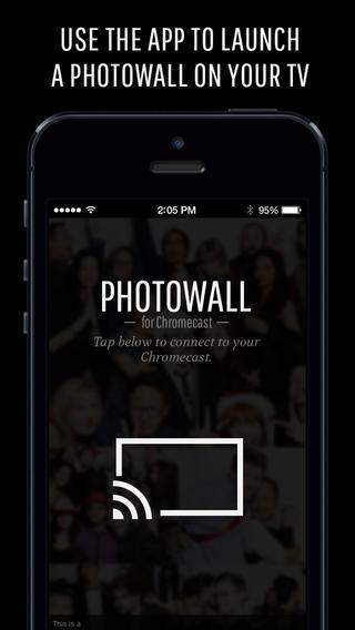 Photowall for Chromecast beginscherm
